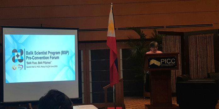 BALIK SCIENTIST PROGRAM - Yo Manila